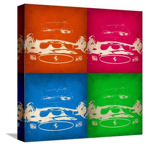 Ferrari Front Pop Art 1-NaxArt-Stretched Canvas Print