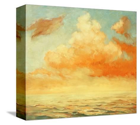 Sea Landscape, Illustration, Painting by Oil on a Canvas-Mikhail Zahranichny-Stretched Canvas Print