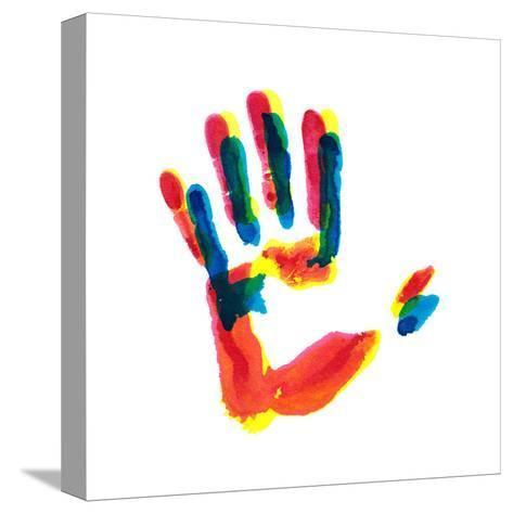 Hand Print-okalinichenko-Stretched Canvas Print