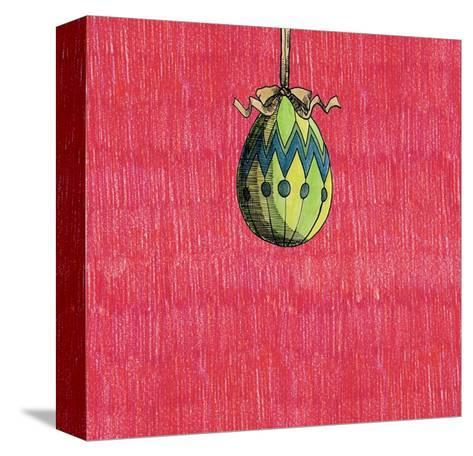 Decoration Egg for Eastereaster-tannene-Stretched Canvas Print