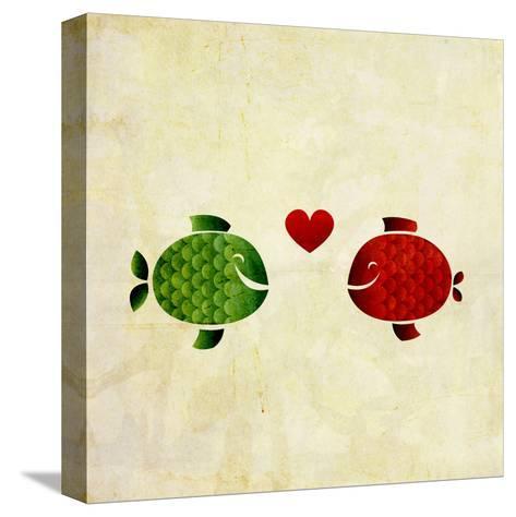 Peces Enamorados- elimg-Stretched Canvas Print