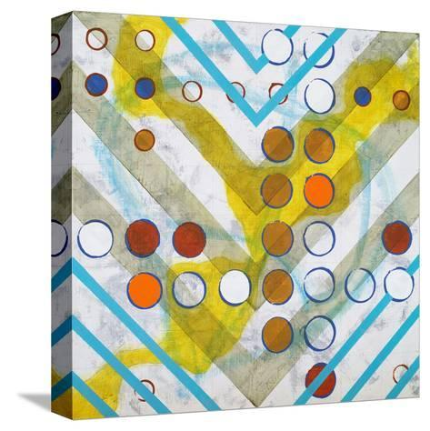 An Abstract Painting, Based on a Grid-clivewa-Stretched Canvas Print