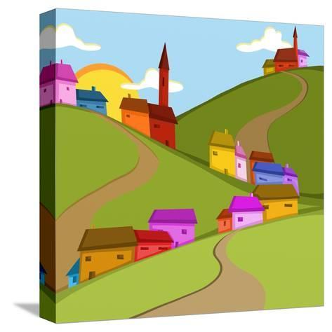 Case in Collina-goccedicolore-Stretched Canvas Print