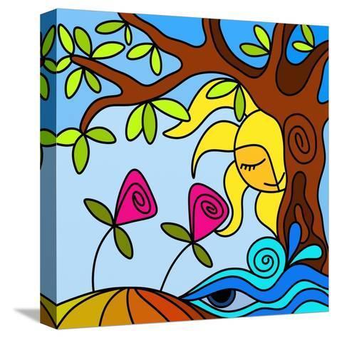 Due Fiori-goccedicolore-Stretched Canvas Print
