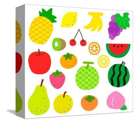 Fruits- sobakasu-Stretched Canvas Print