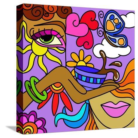 Astratto Con Tannina Di Caff?-goccedicolore-Stretched Canvas Print