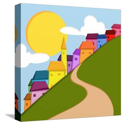 Paesino in Montagna-goccedicolore-Stretched Canvas Print