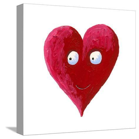 Cute Smiling Heart-andreapetrlik-Stretched Canvas Print