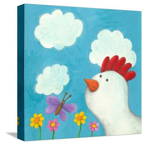 Fuuny Hen-andreapetrlik-Stretched Canvas Print