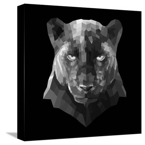 Black Panther-Lisa Kroll-Stretched Canvas Print
