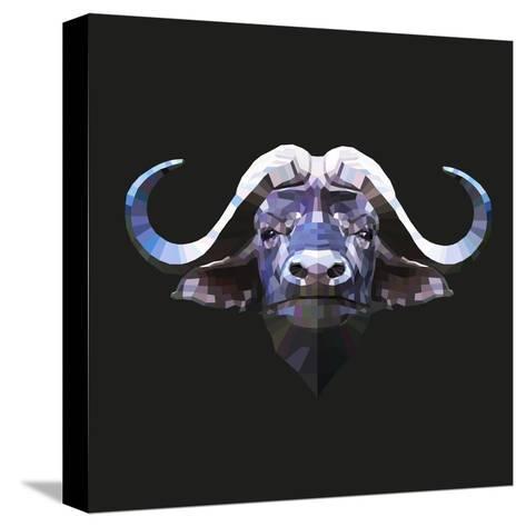 Bull-Lora Kroll-Stretched Canvas Print