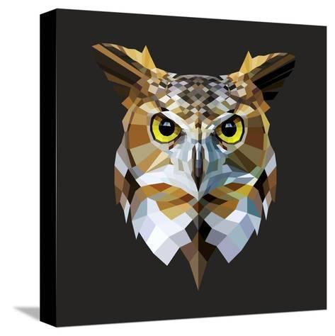 Owl-Lora Kroll-Stretched Canvas Print
