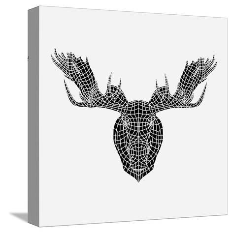 Moose Head Mesh-Lisa Kroll-Stretched Canvas Print