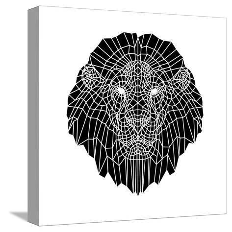 Lion Head Black Mesh 2-Lisa Kroll-Stretched Canvas Print