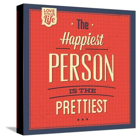Happy Person-Lorand Okos-Stretched Canvas Print
