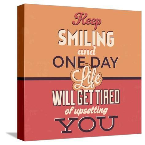 Keep Smiling-Lorand Okos-Stretched Canvas Print