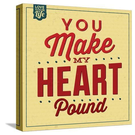You Make My Heart Pound-Lorand Okos-Stretched Canvas Print