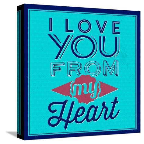 I Love You from My Heart 1-Lorand Okos-Stretched Canvas Print