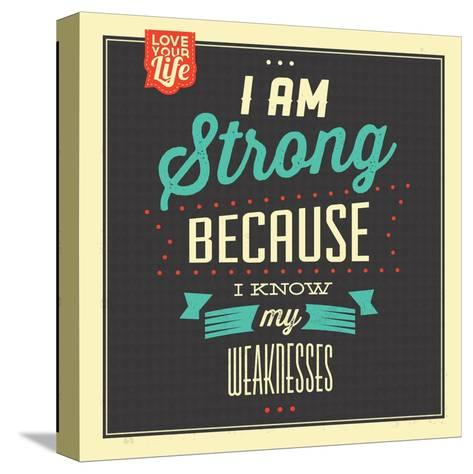 I'm Strong-Lorand Okos-Stretched Canvas Print