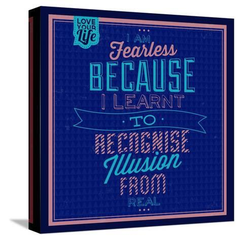 I'm Fearless 1-Lorand Okos-Stretched Canvas Print