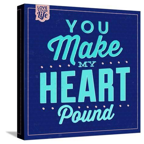 You Make My Heart Pound 1-Lorand Okos-Stretched Canvas Print
