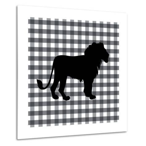 Lion-Linda Woods-Metal Print