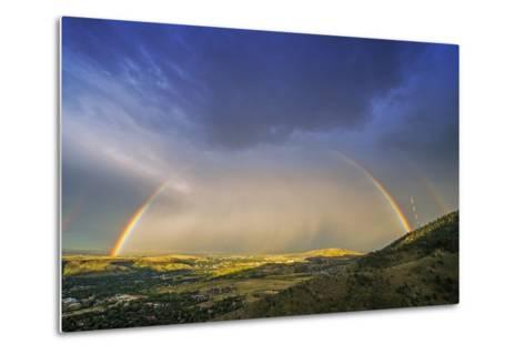 Rainbow over Denver-duallogic-Metal Print