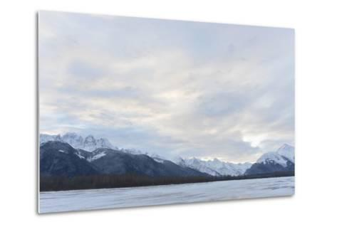 Snowcovered Mountains in Alaska.-SURZ-Metal Print