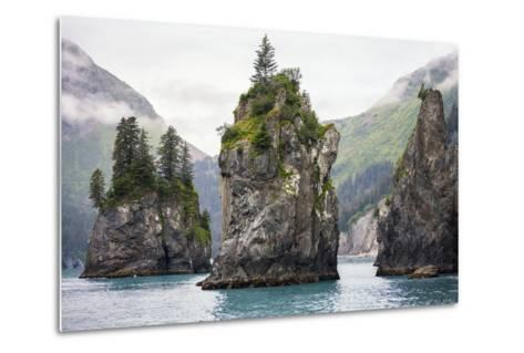 Sea Stacks, Kenai Fjords National Park, Alaska-Steven Schremp-Metal Print