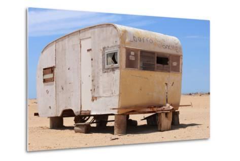 Abandoned Trailer in the Desert-Charles Harker-Metal Print