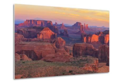 Sunrise at Hunts Mesa Viewpoint-aiisha-Metal Print
