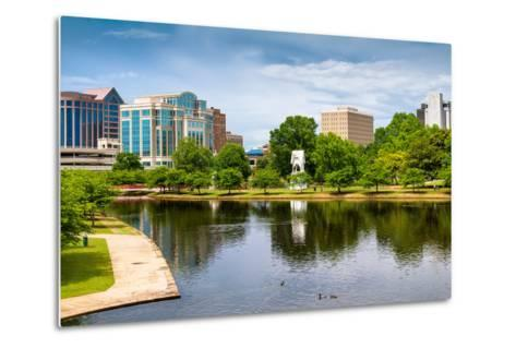 Cityscape Scene of Downtown Huntsville Alabama from Big Spring Park-Rob Hainer-Metal Print