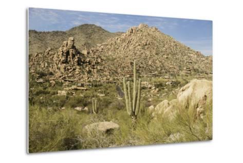 Arizona, Desert Valley Landscape near Phoenix,Scottsdale,Usa-BCFC-Metal Print