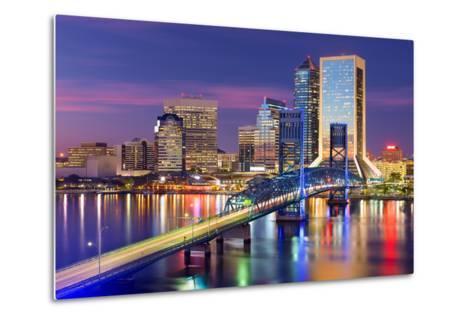 Jacksonville, Florida, USA Downtown City Skyline.-SeanPavonePhoto-Metal Print