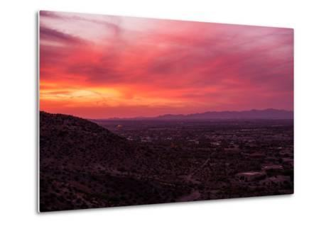 Arizona Sunset Scenery-duallogic-Metal Print