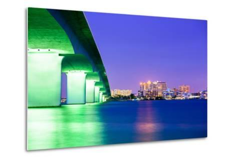 Sarasota, Florida, USA Downtown City Skyline.-SeanPavonePhoto-Metal Print