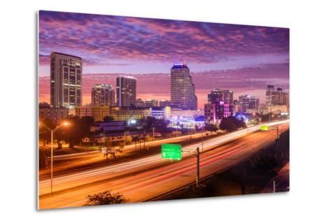 Orlando, Florida, USA Downtown Cityscape over the Highway.-SeanPavonePhoto-Metal Print