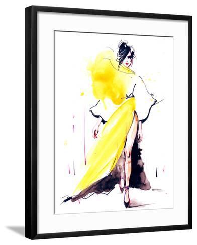 Fashion-okalinichenko-Framed Art Print