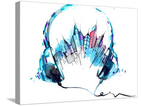 Sounds of City-okalinichenko-Stretched Canvas Print