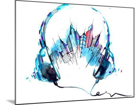 Sounds of City-okalinichenko-Mounted Art Print