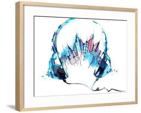 Sounds of City-okalinichenko-Framed Art Print