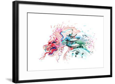 China-okalinichenko-Framed Art Print
