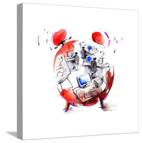 Office-okalinichenko-Stretched Canvas Print