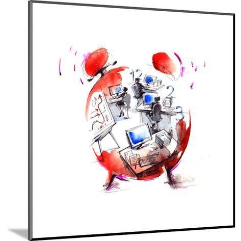 Office-okalinichenko-Mounted Art Print