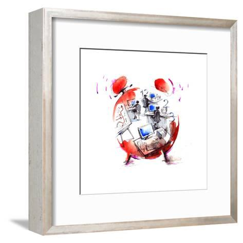 Office-okalinichenko-Framed Art Print