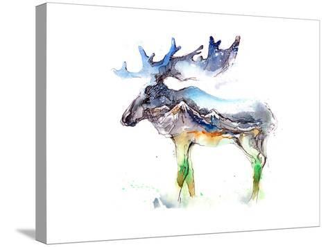 Elk-okalinichenko-Stretched Canvas Print