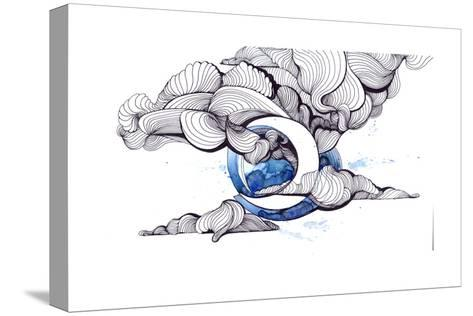 Moon-okalinichenko-Stretched Canvas Print