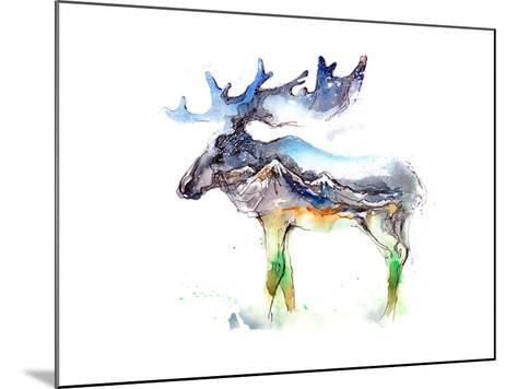 Elk-okalinichenko-Mounted Art Print