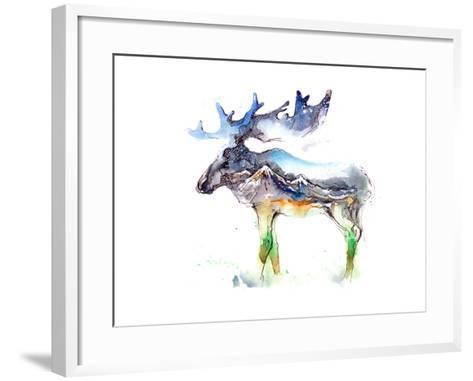Elk-okalinichenko-Framed Art Print