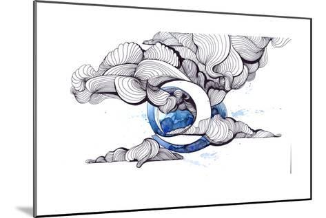 Moon-okalinichenko-Mounted Art Print